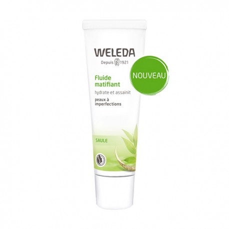 WELEDA - Fluide matifiant - Hydrate et assainit - Peaux à imperfections - 30ml
