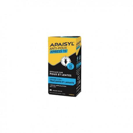 APAISYL - Anti-poux Xpress 15' - Lotion 2 en 1 Traitante et Lavante - 300ml