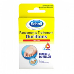SCHOLL - Pansements Coricides - Durillons - 2 emplâtres + 2 disques coricides