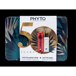 PHYTO - Coffret de Noël - Phytolaque soie 100ml + Shampooing Phytojoba 100ml Offert