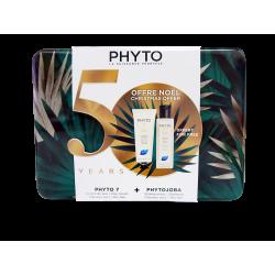 PHYTO - Coffret de Noël - Phyto 7 Crème de jour 50ml + Shampooing Phytojoba 100ml Offert