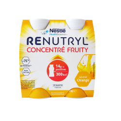 NESTLÉ - Renutryl - Concentré fruity - Saveur orange - 4x200ml