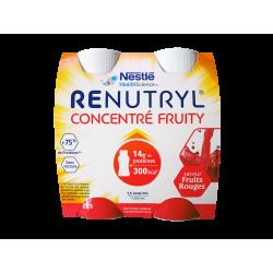 NESTLÉ - Renutryl - Concentré fruity - Saveur fruits rouges - 4x200ml