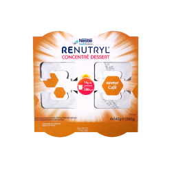 NESTLÉ - Renutryl - Concentré dessert saveur café - 4x140g