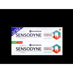 SENSODYNE - Dentifrice Sensibilité & Gencives - Menthe fraîche - 2 x 75ml