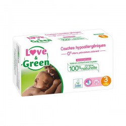 Love & Green Couches hypoallergeniques taille 3 paquet de 52