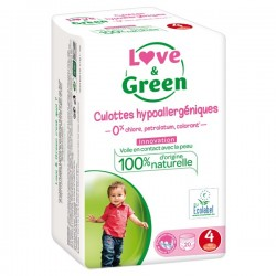 LOVE & GREEN - Culottes hypoallergéniques - Taille 4 - 20 culottes