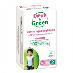 LOVE & GREEN - Culottes hypoallergéniques - Taille 6 - 16 culottes