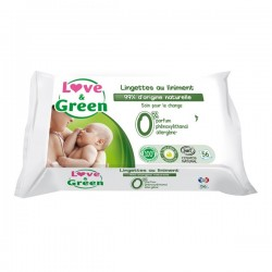 Love & Green Lingettes au liniment paquet de 56