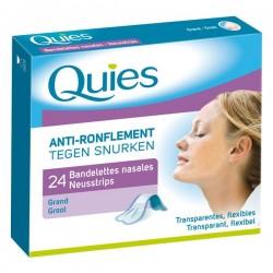 Quies Bandelettes nasales Anti-ronflement boite de 24