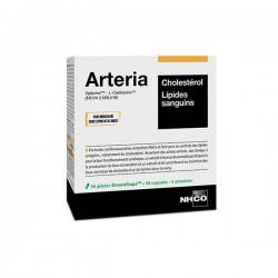 NHCO - Arteria - Cholestérol et lipides sanguins - 56 gélules matin + 56 capsules soir