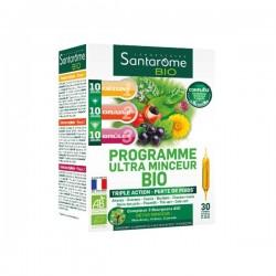 Santarome Bio programme ultra minceur bio complément alimentaire 20 ampoules x 10ml