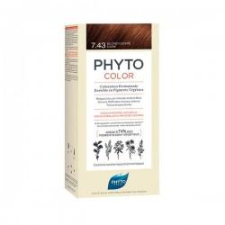 PHYTO - Phytocolor - 7.34 Blond cuivré doré - Coloration permanente - 112ml