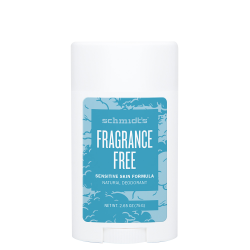 SCHMIDT'S - Fragrance free - Déodorant efficace et 100% d'origine naturelle - 58ml