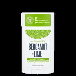 SCHMIDT'S - Bergamot + Lime - Déodorant efficace et 100% d'origine naturelle - 58ml