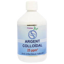 PHARMA PHYT - Argent Colloïdal - Anti-infectieux naturel 25 ppm - 500 ml