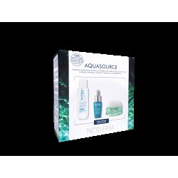 BIOTHERM - Coffret Aquasource Gel - Gel, Elixir et Eau micellaire - Emballage 100% recyclé