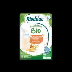 MODILAC - Mes céréales Bio - Multicéréales - Dès 6 mois - 250g