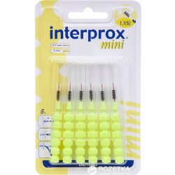 DENTAID - Interprox - Mini - Brossettes interdentaires 1.1mm - 6 brossettes