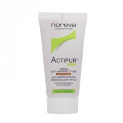NOREVA - Actipur - Crème anti-imperfections - Teintée dorée - Peaux à problèmes - 30ml