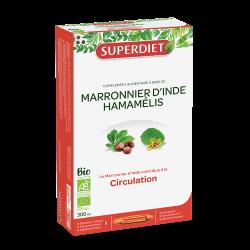 SUPERDIET - Marronnier d'Inde - Hamamélis Bio - 20 ampoules