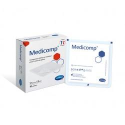 HARTMANN - Medicomp - Compresses stériles en nontissé pour le soin des plaies - 7,5cm x 7,5cm - 10 x 2 compresses