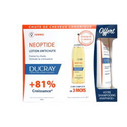 DUCRAY - Neoptide - Lotion antichute - 3 flacons pulvérisateurs de 30ml - + Shampoing anaphase offert - 100ml