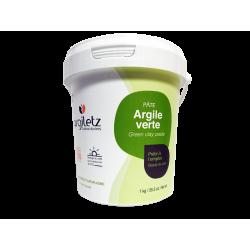 ARGILETZ - Argile verte - Pâte - 100% naturelle - 1kg