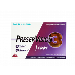 BAUSCH+LOMB - Preser vision 3 - Femme - Complément alimentaire - 60 capsules