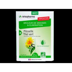 ARKOPHARMA - Brûleur de graisses & élimination - Piloselle, Thé vert - 40 gélules
