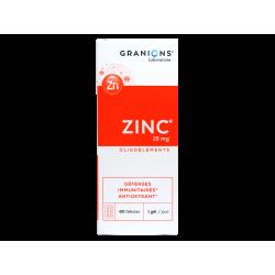 GRANIONS - Zinc 15mg - Oligoéléments - Défenses immunitaires - 60 gélules