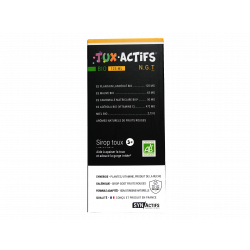 SYNACTIFS - Tux actifs - Bio - Sirop toux 3+ - 125ml