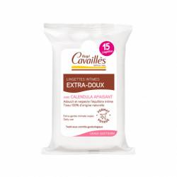 R CAVAILLÈS - Lingettes intimes - Extra-douces - Calendula apaisant - 15 lingettes