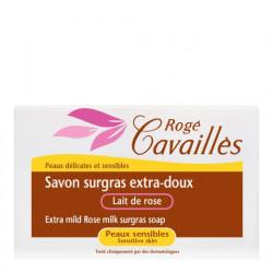 ROGÉ CAVAILLÈS - Savon surgras - Extra-doux - Lait de rose - Peau sensible - 250g