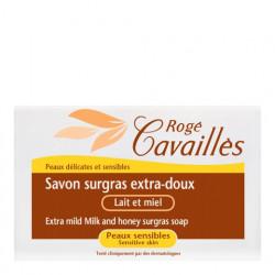 ROGÉ CAVAILLÈS - Savon surgras - Extra-doux - Lait et miel - Peau sensible - 250g