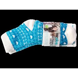AIRPLUS - Aloe cabin socks - Bleues motifs blancs - Taille 35-41