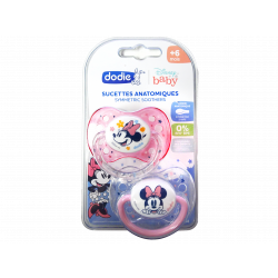 DODIE - Sucettes anatomiques - +6 mois - Disney baby - Rose Minnie - x2