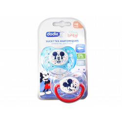 DODIE - Sucettes anatomiques - +6 mois - Disney baby - Bleue Mickey - x2