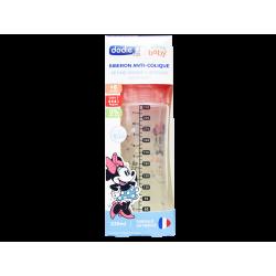 DODIE - Biberon anti-colique - tétine ronde 3 vitesses - Rose Minnie - x1
