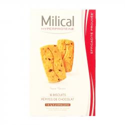 MILICAL - Hyperprotéiné pépites de chocolat - 16 biscuits