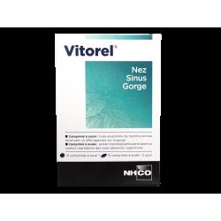 NHCO - Vitorel - Nez, sinus, gorge - Complément alimentaire - 15 cpr à sucer + 15 cpr à avaler