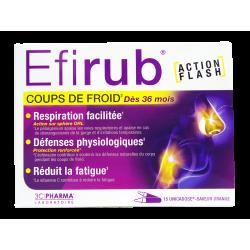 EFIRUB - Coups de froid - Action flash - Saveur orange - 15 unidoses