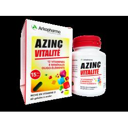 ARKOPHARMA - Azinc vitalité - Complément alimentaire - Dès 15 ans - 60 gélules