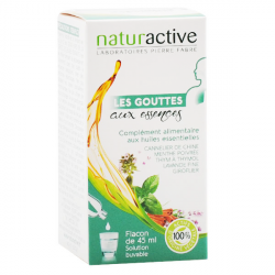 NATURACTIVE - Les gouttes aux essences - Complément alimentaire - Huiles essentielles - 45ml