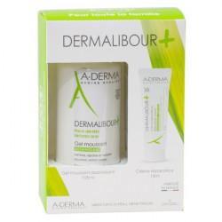 ADERMA - Dermalibour+ - Gel moussant 125ml + Crème réparatrice 15ml - Peaux irritées