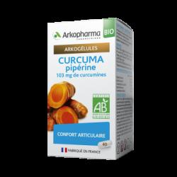 ARKOPHARMA - Arkogélules - Curcuma pipérine - 103mg de curcumines - Confort articulaire - Bio - 40 gélules