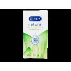 DUREX - Naturel - Lubrifiant d'origine naturelle - 10 préservatifs