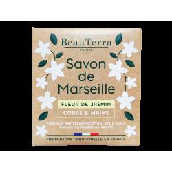 BEAUTERRA - Savon de Marseille - Fleur de jasmin - Corps & mains - 100g