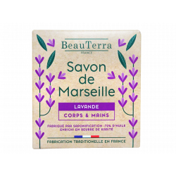 BEAUTERRA - Savon de Marseille - Lavande - Corps & mains - 100