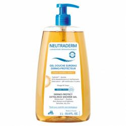 NEUTRADERM - Gel douche surgras - Dermo-protecteur - Peaux sensibles et sèches - 1L